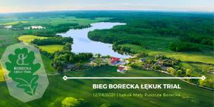 grafika reklamująca bieg w Łękucie Borecka